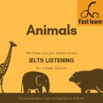 Chủ đề độngr vật trong IELTS listening