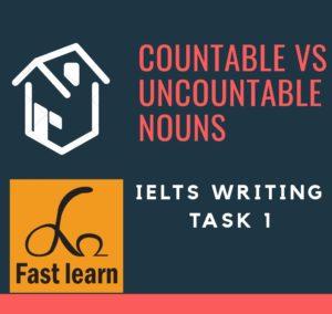 Các từ dùng với danh từ đếm được và không đếm được trong ietls writing task 1