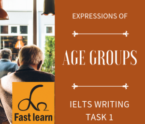 cách viết các lứa tuổi trong IELTS writing task 1
