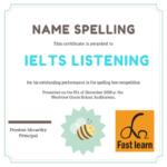 Đánh vần tên trong IELTS listening
